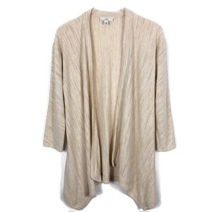 H BY HALSTON Cardigan Lightweight Neutral Small